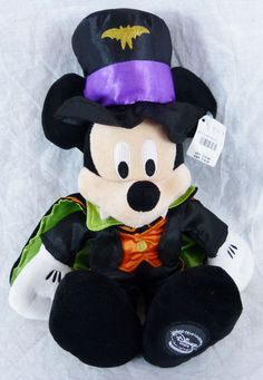 Disney Parks Mickey Mouse Vampire Plush Halloween 13 Inches Tall NWOT Dracula #DisneyParks