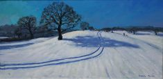 Andrew Macara, Tracks in the snow - Sold