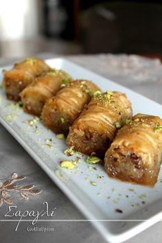 Greek Sweets, Greek Desserts, Greek Recipes, Cookbook Recipes, Sweets Recipes, Cooking Recipes, Low Calorie Cake, Greek Pastries, The Kitchen Food Network