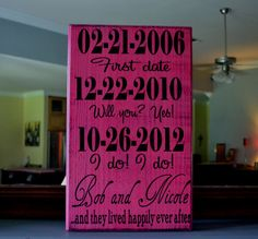 Personalized Wedding Gift Engagement Gift Anniversary by CSSDesign, $40.00