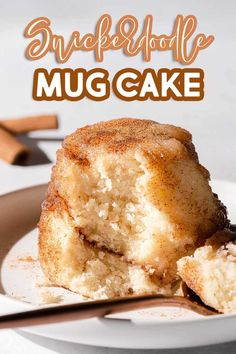 A quick and easy mug cake with the delicious cinnamon sugar flavor of your favorite snickerdoodle cookie! Before cooking, the mug is dusted with cinnamon sugar, and extra cinnamon sugar is added in the center of the fluffy vanilla cake for a sweet surprise! Mug Recipes, Cake Mix Recipes, Cupcake Recipes, Baking Recipes, Cupcake Cakes, Cake Mixes, Cupcakes, Turkey Recipes, Fast Dessert Recipes
