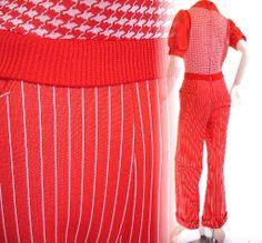 Vintage 1960s one-piece sweater vest jumpsuit