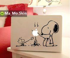 Snoopy-Macbook Decals Macbook Stickers Mac Cover Skins Vinyl Decal for Apple Laptop Macbook Pro/Macbook Air/Uniboday Partial Skin. $8.99, via Etsy.