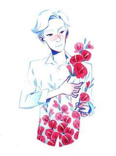 цветы арт cute