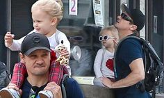 Jeremy Renner takes adorable daughter Ava, three, to the LA Zoo