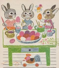 About Easter, Easter 2020, Bunny Art, Easter Tree, Preschool Art, Vintage Easter, Egg Hunt, Illustrations And Posters, Children's Book Illustration