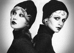 Pattie Boyd and Twiggy. 1969