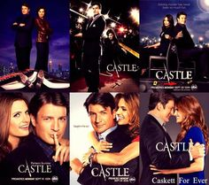 Season covers I love how the covers show a progression in the relationship. so clever and cute! Abc Shows, Best Tv Shows, Best Shows Ever, Favorite Tv Shows, Castle Tv Series, Castle Tv Shows, Castle 2009, Castle Abc, Nathan Fillon