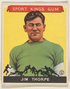 Jim Thorpe, Football, The Metropolitan Museum of Art - Highlights of Gridiron Greats: Vintage Football Cards in the Collection of Jefferson R. Burdick