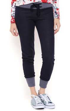 Deb Shops french terry jogger pant with contrast ribbed waistband and cuffs $16.80