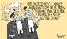 El trazo de Heduardo sobre el Congreso peruano.