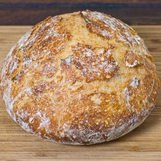 Crusty Bread - bake this easy to make bread in a cast iron pot and you have perfection.