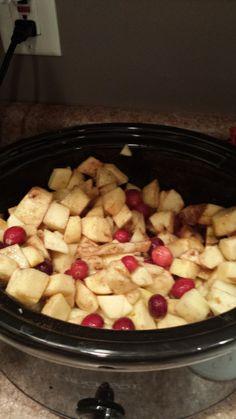 Cranberry Bourbon Applesauce