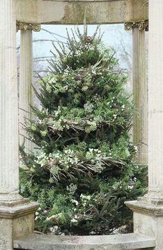 veranda+christmas+magazine | Flower decorated tree by Emily Thompson via Verandah magazine