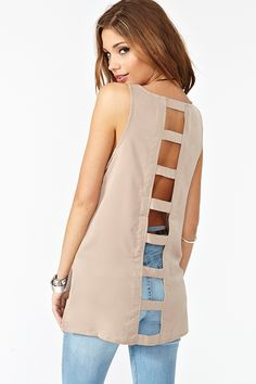 Caged Tank in Taupe