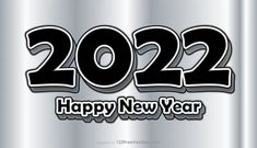 Free New Year Grey Background 2022