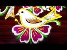 latest simple rangoli designs with 9x5 dots || easy kolam designs || muggulu with dots - YouTube
