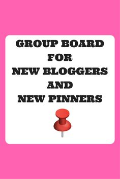 Are you a new blogger or a new pinner?  Have you heard about group boards?  Join this Board which is especially for new bloggers to get used to group boards. To join please follow me on Pinterest and send me an email with your Pinterest name (found in your profile) and with the subject Join New Bloggers and Pinners Group Board to contact@moneysavingjourneys.com . Then pin your own content and that of others to the Board. Any questions, please email. I am happy to help. Happy Pinning!