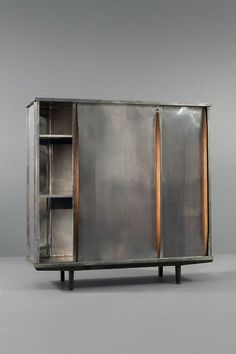 Aluminium and oak wardrobe by Jean Prouvé, ca.1946. / lifeonsundays