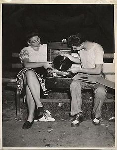 After midnight in Washington Square Park,NYC (1945)