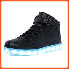 buy online 7e9af c6c08 CIOR High Top Led Light Up Shoes 11 Colors Flashing Rechargeable Sneakers  for Mens Womens Girls