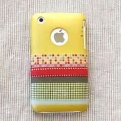 an easy way to use washi tape on your iphone covers!