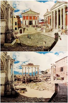 Roman Temples +++ drawing by Andrea Tosolini