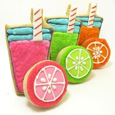A visual delight - lemonade cookies, perfect for a summer b'day!