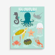 With an effortless modern style, Lucy Darling offers a high-quality sea creature themed art print designed to help celebrate the darling moments of a baby's lif