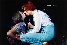 David Bowie and a fan, 1974. : OldSchoolCool