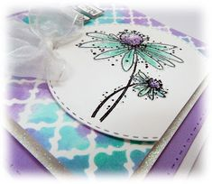 Morrocan Daisy Card Crafts, Paper Crafts, Diy Crafts, Craft Stamps, Circle Crafts, Glitter Cards, Creative Crafts, Cardmaking, Card Ideas