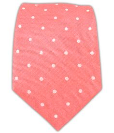 thetiebar.com Dotted Dots - Coral (Linen) $15