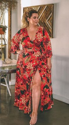 Plus Size Fashion for Women Plus Size Boho Dress plussize - health-fitness Curvy Girl Fashion, Boho Fashion, Womens Fashion, Classy Fashion, Dress Fashion, Trendy Fashion, Style Fashion, Looks Plus Size, Plus Size Model