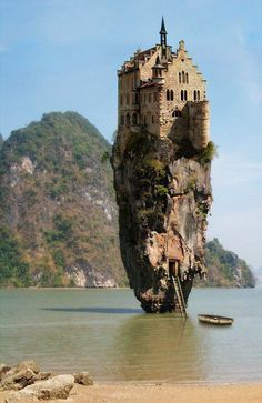 James Bond Island, Thailand. Apparently someone cleverly Photoshopped a castle on top of the photo.
