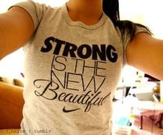 "Nike ""Strong is the new beautiful"" T-shirt"
