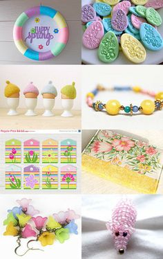 Spring Gifts In Pastel by SiriusFun on Etsy--Pinned with TreasuryPin.com