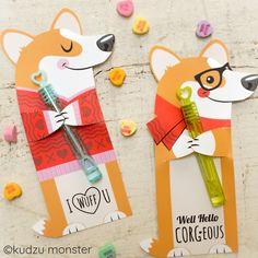 Valentine Corgi Huggers – Kudzu Monster
