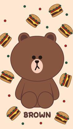 Lines Wallpaper, Brown Wallpaper, Bear Wallpaper, Pink Wallpaper Iphone, Kawaii Wallpaper, Cute Wallpaper Backgrounds, Cute Disney Wallpaper, Cute Cartoon Wallpapers, We Bare Bears Wallpapers
