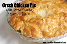 Greek-inspired Chicken Pie