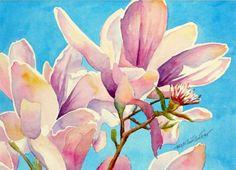 Magnolia Closeup (painting)