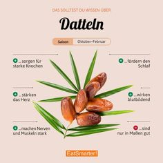 What do you prefer dates for? They are great for cake & Co. What do you prefer dates for? They are great for cake & Co. Healthy Foods To Eat, Healthy Eating, Healthy Recipes, Clean Eating, Vegan Nutrition, Health And Nutrition, Vitamin C Foods, Watermelon Smoothies, Drink List