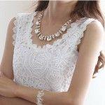 blusas de encaje blanco  5