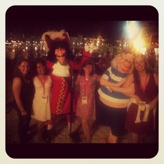 The Splash Creative team with Captain Hook and Smee at Disney Social Media Moms