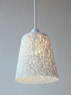 Porcelain Hanging pendant light by Hajime Design. Design Light, Lamp Design, E Design, Lighting Design, Tokyo Design, Ceramic Light, Ceramic Pendant, Pendant Lamp, Pendant Lighting