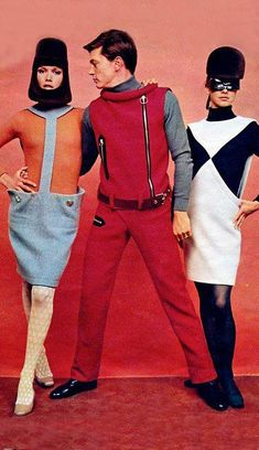 1960s MOD - Women's & men's space-age fashion - by Pierre Cardin