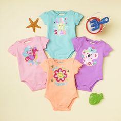 Brighten up your wardrobe with our vibrant bodysuits for newborn girls.