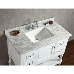 Home Depot Ashland II Inch Vanity Combo In White Tap - 42 inch bathroom vanity combo