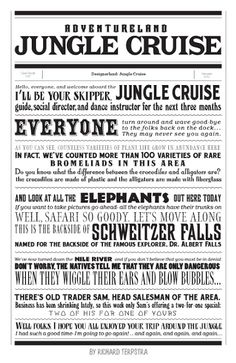 Dumb ride, but I know the kids like it, so it gets a pin. Jungle cruise, ride at Disney World, Disney Rides, Disney Love, Disney Parks, Walt Disney, Disney Stuff, Disney College, Orlando Disney, Disney Cruise, Disney Posters