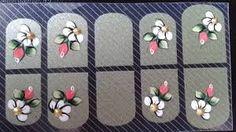 Cómo hacer fácilmente stickers para decorar uñas en casa ~ Manoslindas.com 3d Nail Art, 3d Nails, Manicure Y Pedicure, Kids Rugs, Stickers, Ideas, Nail Stickers, Perfect Nails, Pretty Nails