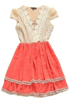 #SheInside    White Pink V Neck Lace Pleated Silk Dress